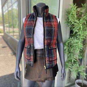 J. CREW Primaloft Plaid Zip Front Puffy Vest - XS